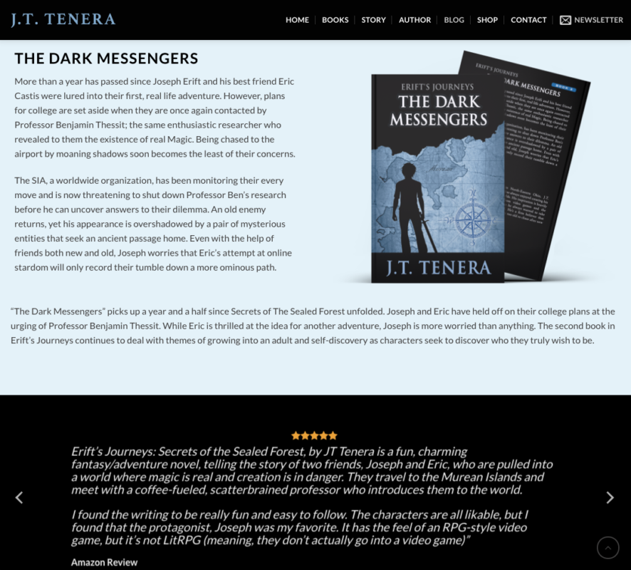Author Website Design by ElectraFox